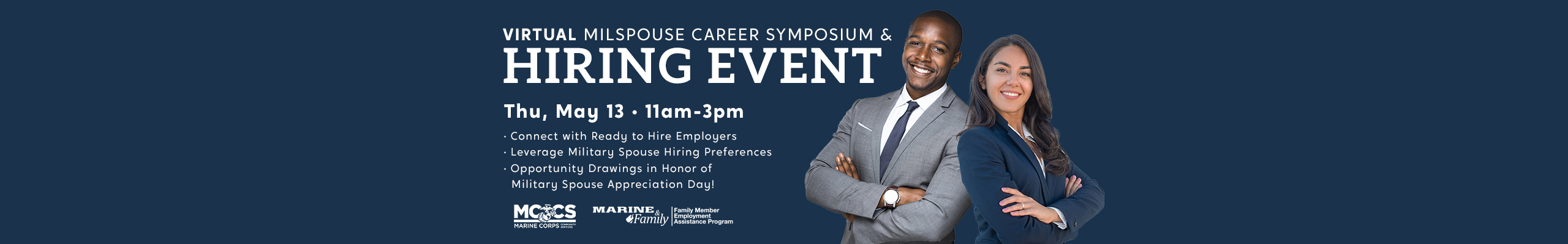 Virtual Military Spouse Career Symposium & Hiring Event – May 13: 11am-3pm